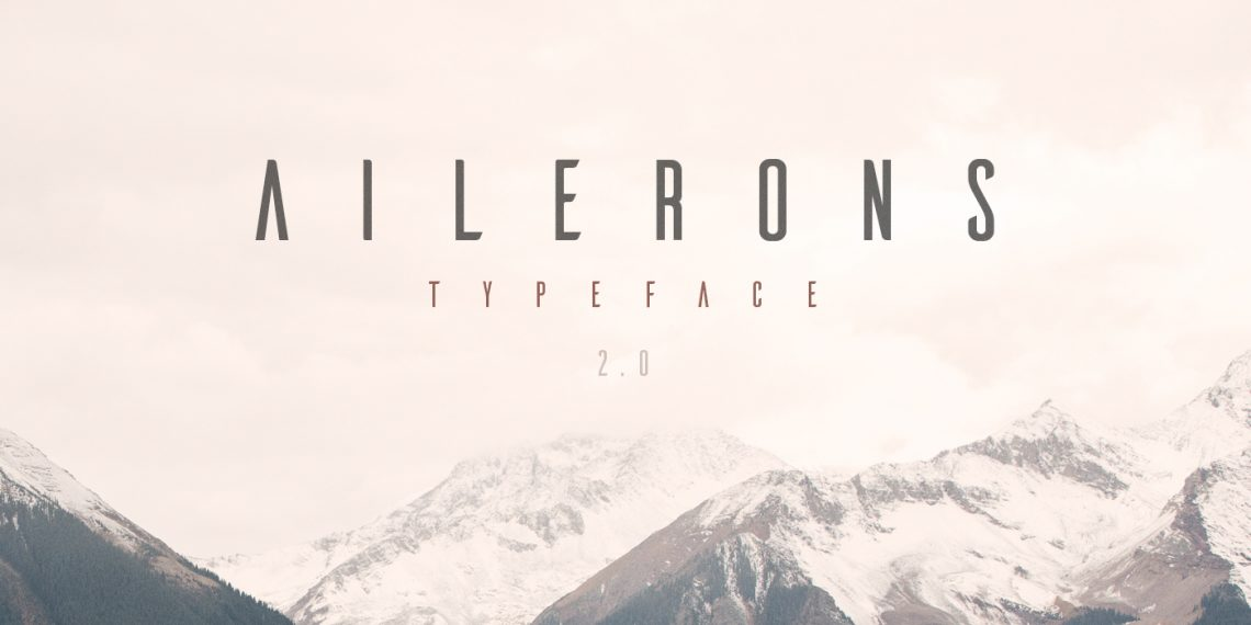 Free Ailerons font