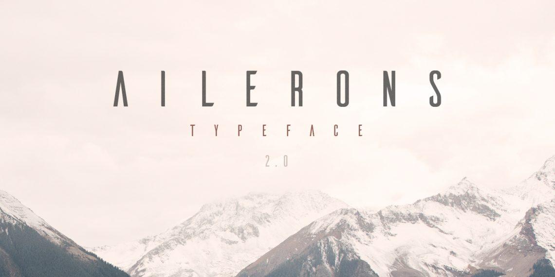 Free Ailerons font