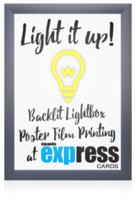 Light box poster film